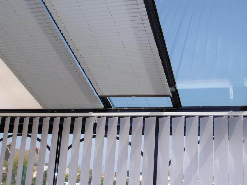 Batistore store pliss toiture de v randa for Rideau interieur electrique