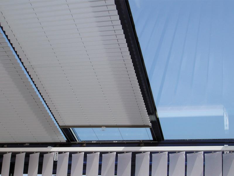Batistore store duette toiture de v randa - Store plafond interieur pour veranda ...
